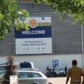 Überall in Den Haag wurde Reklame für die WM gemacht
